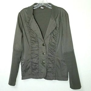XCVI 3 Button Ruched Detail Soft Stretch Jacket
